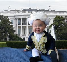 In honor of President's Day yesterday, we present baby Washington.