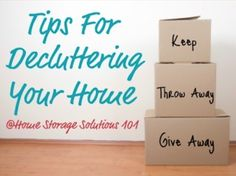 Learn the art of decluttering! Don't hang onto the past .. We have 101 things that need to go today! Check out all the great info now.