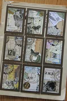 Collage ATCs 2/2 | traded | By: Shanda Panda | Flickr - Photo Sharing!