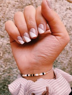 Chic Nails, Stylish Nails, Simple Acrylic Nails, Simple Nails, Hair And Nails, My Nails, Nagellack Design, Minimalist Nails, Dream Nails