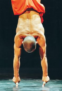 shaolin monk. Wow! Obviously I have not been doing enough finger tip push ups- while doing a hand stand.