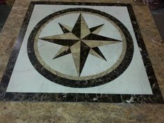 Our Split Polaris Star as a 36 inch Square Medallion