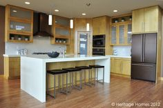 This sleek kitchen style is a great option for anyone who loves the modern look.