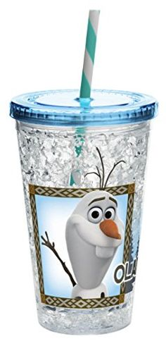 Zak! Designs Chill Insulated Tumbler with Screw-on Lid and Straw with Olaf from Frozen, 14.5-Ounce, BPA-free *** Be sure to check out this awesome product.