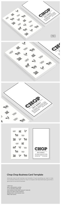 194 best business cards templates images on pinterest business chop chop business card template by the design label on flashek Image collections