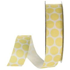 "the Ribbon Boutique 7/8"" Yellow Packed Polka Grosgrain Ribbon 