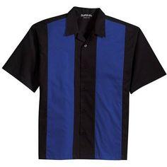 Clothe Co. Men's Retro Bowling Camp Shirt, Black/Burgundy, 4XL at Amazon Men's Clothing store: