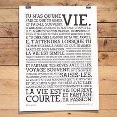 awesome Citation - la vie est courte! enjoy!:...