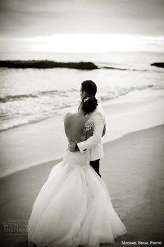 galia lahav wedding dresses 2014 real brides black and white photo shoot beach