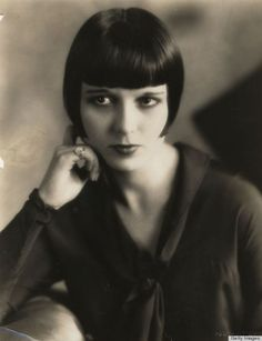 Louise Brooks, 1920 hairstyle, found in an article on huffpost.com