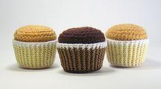 Cupcake  Amigurumi Pattern  PDF  Crochet by stripeyblue on Etsy, $4,99
