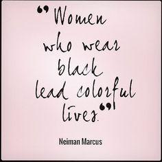 Women who wear black