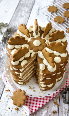 Sweet Pastries, Recipes From Heaven, Gingerbread Cookies, Food Inspiration, Baked Goods, Sweet Recipes, Cake Decorating, Food And Drink, Ice Cream