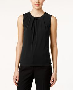 Calvin Klein Printed Hardware Pleated Shell