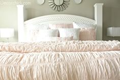 Grey and blush bedroom
