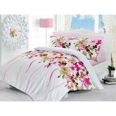 Pościel satynowa Valentini Tual Pink w Calvado Butterfly Bedding Set, Chandelier Lighting, Chandeliers, Comforters, Valentino, Sweet Home, Blanket, Pink, House