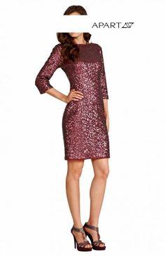 Paillettenkleid in bordeaux von APART - Kleidung Onlineshop
