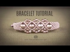 Wavy Macramé Flower Bracelet Tutorial by Macrame School - YouTube