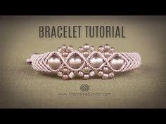Wavy Macramé Flower Bracelet Tutorial by Macrame School - YouTube