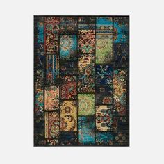 Wallace Rug 5'3x7'9 Charcoal now featured on Fab.