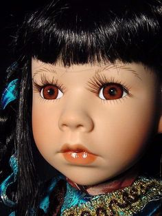 Gorgeous Show Stoppers Large Collectible Doll Asian Oriental Chinese Bisque Porcelain Artisan