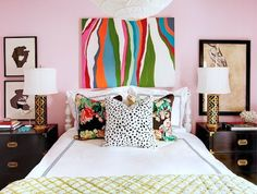 Eclectic. if have pink walls