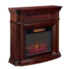 Style Selections 48-in W 5,200-BTU Walnut Wood Infrared Quartz Electric Fireplace with Remote Control  $419