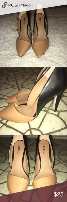 a31ed742651f 🔥🔥JUSTFAB Nude And Black Stilettos🔥🔥 💋JustFab GiSETTA Nude and Black  Stilettos are very classy and 🔥🔥 Nude in front Black in back Very well  kept Few ...