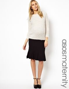 ASOS Maternity Pencil Skirt With Fluted Hem