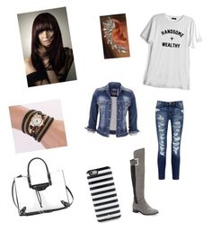 """""""Me"""" by whit-armstead on Polyvore featuring Current/Elliott, Calvin Klein, Balenciaga, Kate Spade and maurices"""