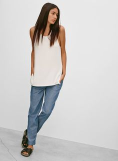 Shop women's clothing from Wilfred Free, one of Aritzia's exclusive brands. Wilfred Free takes inspiration from vintage silhouettes to create a casual uniform. Latest T Shirt, Summer Lookbook, T Shirts For Women, Clothes For Women, Everyday Fashion, Spring Fashion, Style Me, Women Wear, Normcore