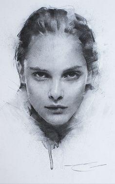 Pencil Sketch Portrait, Portrait Sketches, Portrait Art, Life Drawing, Drawing Sketches, Painting & Drawing, Art Drawings, Drawing Faces, Charcoal Portraits