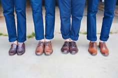 Groomsmen in Navy Suits, Brown Shoes --> http://www.hgtvgardens.com/photos/decorating-photos/hitching-post-a-country-wedding?s=11&soc=pinterest