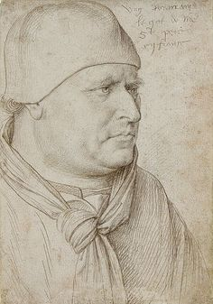 """""""Portrait of an Ecclesiastic"""",  Jean Fouquet"""