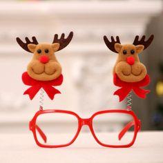 Fashion Christmas Glasses Adult Children Party Eyeglasses Santa Snowman Elk Glasses Frame on AliExpress Christmas Glasses, Adult Children, Glasses Frames, Wedding Events, Eyeglasses, Snowman, Sunglasses Case, Santa, Elk