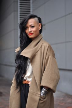 Too beautiful. I would be really reluctant to make my hair that uneven though. It must take ages to get it that long.