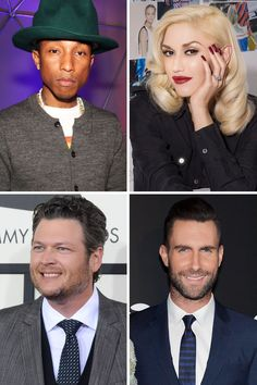NBC+the+Voice+2014+pharrell+williams+&+gwen+stefani | It's Official: Gwen Stefani Joins 'The Voice'