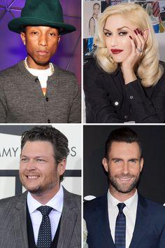NBC+the+Voice+2014+pharrell+williams+&+gwen+stefani | It's Official: Gwen Stefani Joins 'The Voice'