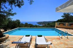 Book this individual handpicked Villas in Greece with private pool: Theodora, Gaios , Paxos, Sleeps 4 Private Pool, Vintage Travel, Villas, Greece, Sleep, Outdoor Decor, Greece Country, Villa, Mansions