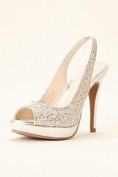 aba9823255e Simply Pelle Peep Toe Sling Back Pump CARMEN Wedding Shoes