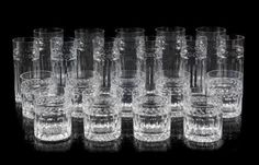 * A William Yeoward Glass Partial Stemware Service in the Georgia pattern, comprising: 22 highball glasses 20