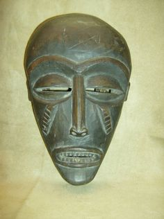 CHOKWE TCHOKWE Tribal Mask Raffia Rope Netting African Art Collectibles