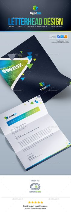 Letterhead Design Template PSD, Vector EPS, AI Illustrator