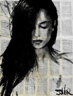 """quest,"" black and white figurative drawing by artist Loui Jover (Australia) available at Saatchi Art. #GiftsforHer"