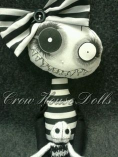 Rinky Dink Luvs Tootsie - lil' demon doll by Crow House Dolls