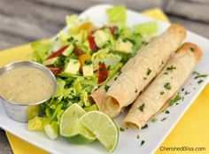 When I put Oven Baked Chicken Taquitos on the menu all my kiddos get so excited. I have been making these taquitos for a few years and they are always a crowd pleaser. I