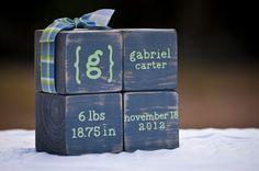 Wooden Baby Blocks by BlankSlateSavannah on Etsy, $25.00
