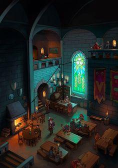 The Inn the Big hall in Alasanaria.