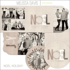 NEW 2012 Noel Holiday template set from Melissa Davis Designs!
