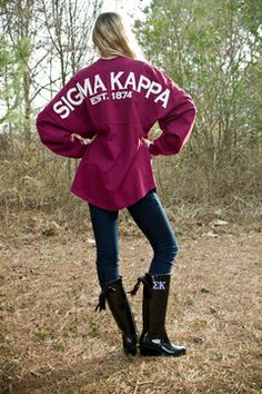 Need: Monogrammed Sorority Spirit Jersey and Monogrammed Rain Boots #perfection